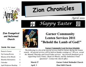 Zion Newsletter